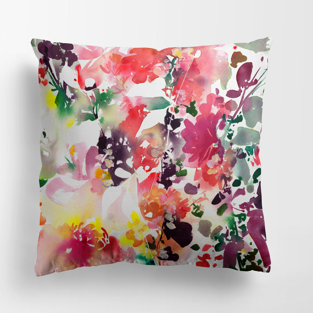 Enchanted Garden Pink Cushion Cover | CreativeIngrid - CreativeIngrid | Ingrid Sanchez