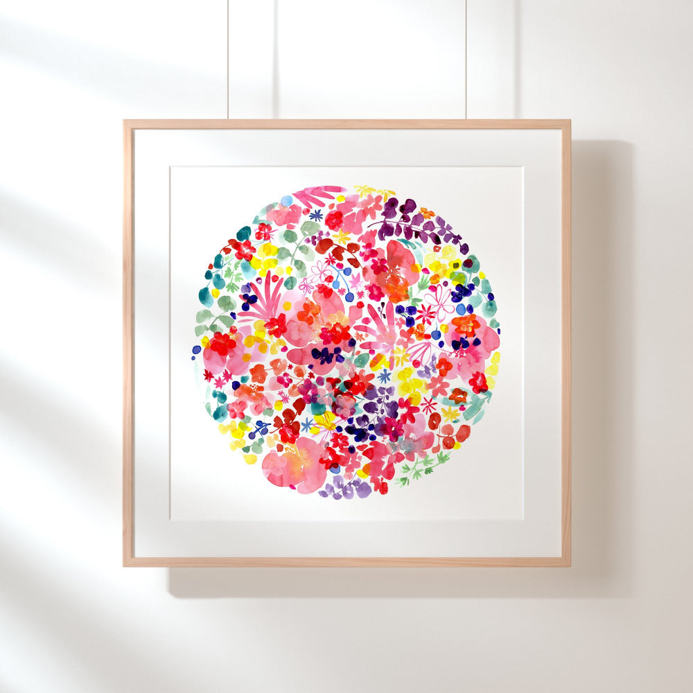 Flower Moon - Art Print - CreativeIngrid | Ingrid Sanchez