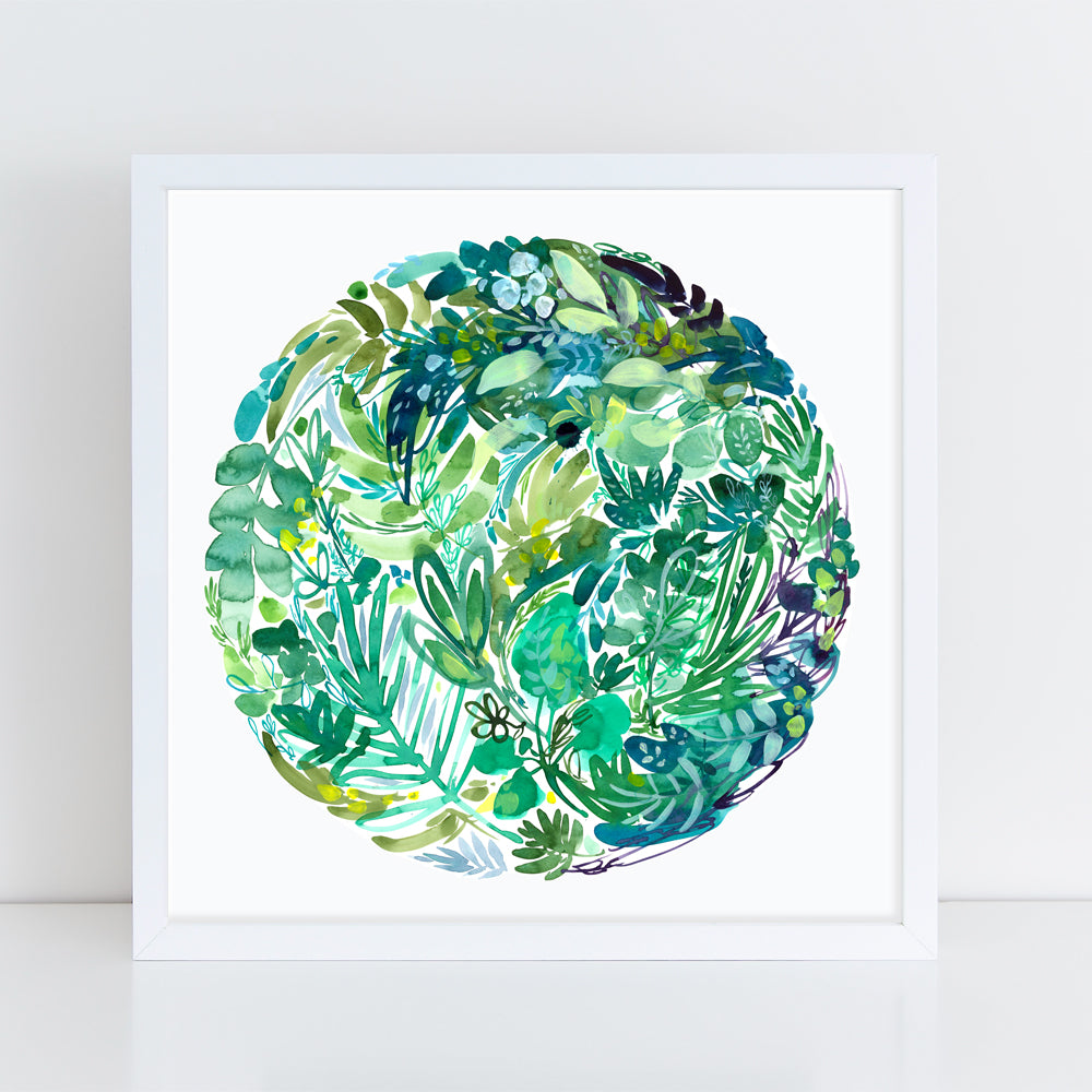 Greenery - Art Print - CreativeIngrid | Ingrid Sanchez
