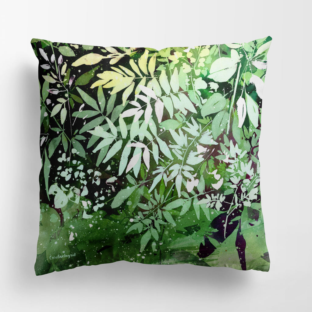 Green Garden Pillow Case | CreativeIngrid - CreativeIngrid | Ingrid Sanchez