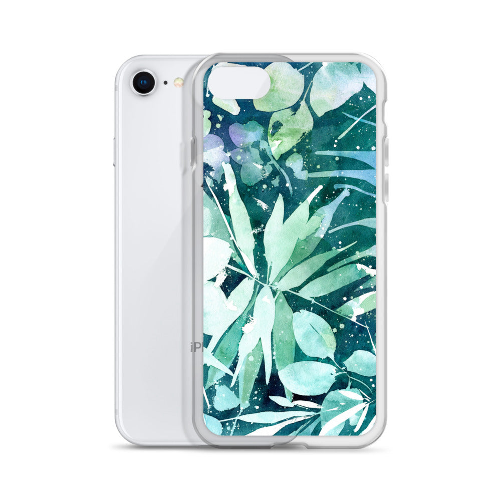 Turquoise Leaves iPhone Case | CreativeIngrid - CreativeIngrid | Ingrid Sanchez