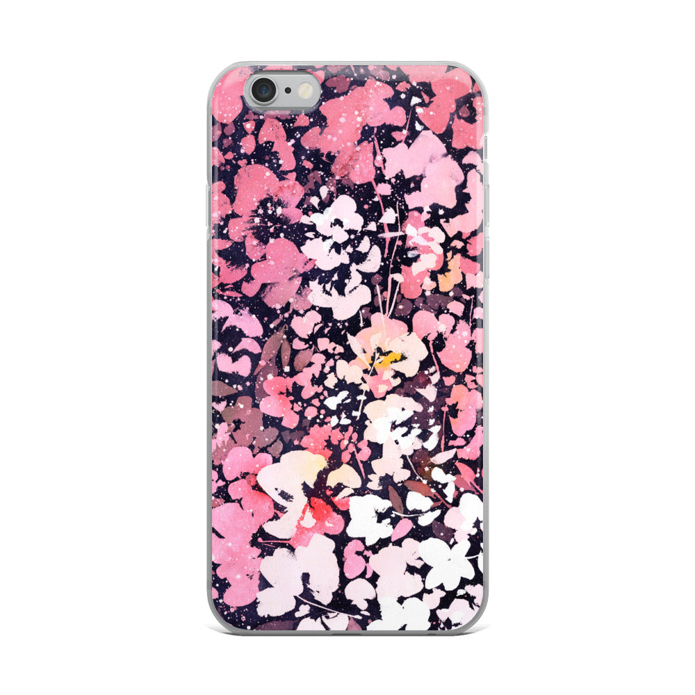 Floral Pink iPhone Case | CreativeIngrid - CreativeIngrid | Ingrid Sanchez
