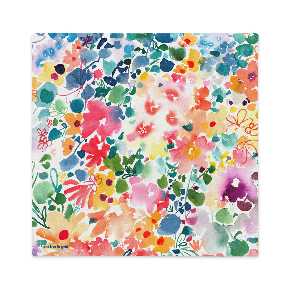 Floral Stardust Cushion Cover | CreativeIngrid - CreativeIngrid | Ingrid Sanchez