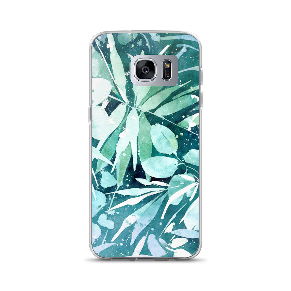 Turquoise Leaves Samsung Case | CreativeIngrid - CreativeIngrid | Ingrid Sanchez