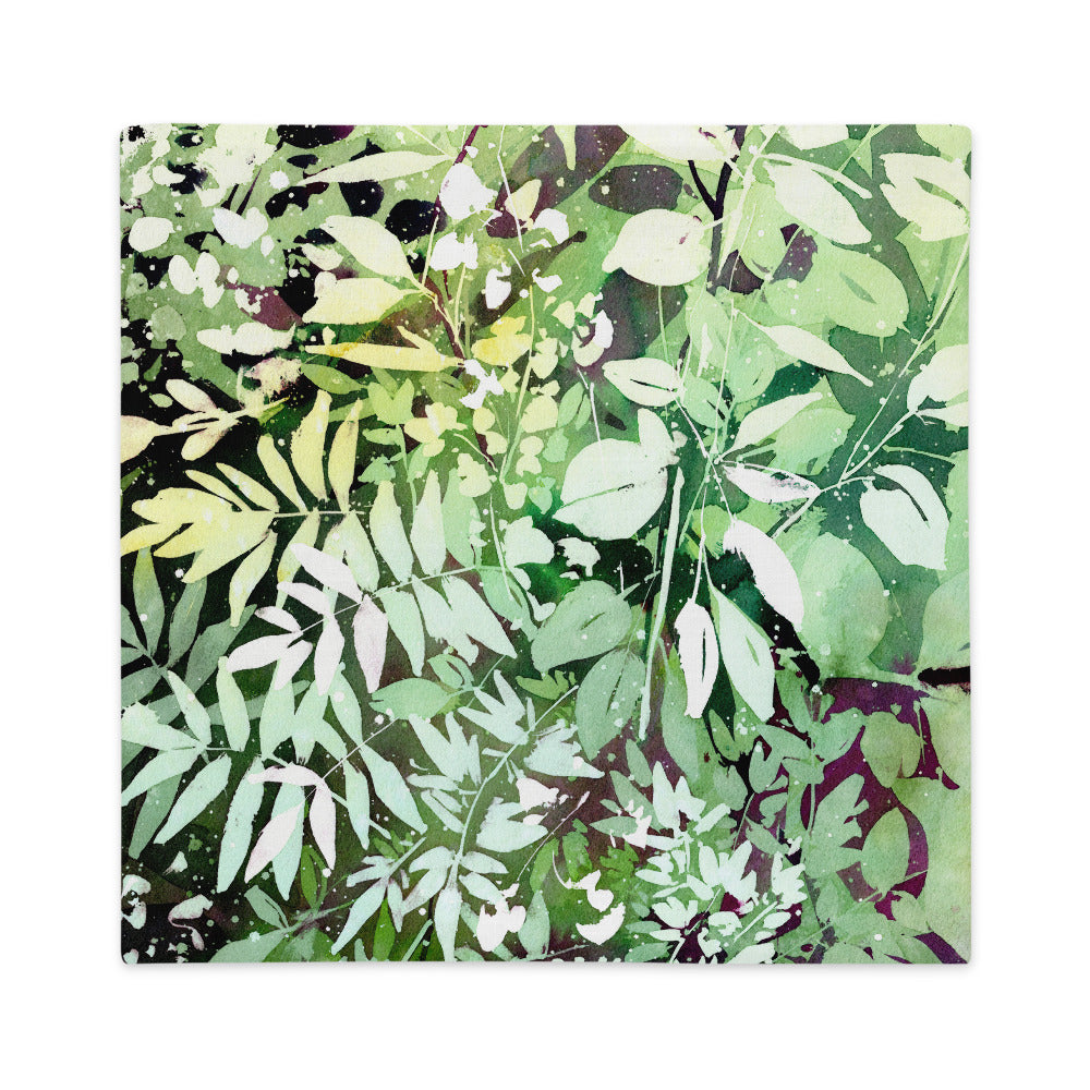 Green Leaves Cushion Cover | CreativeIngrid - CreativeIngrid | Ingrid Sanchez