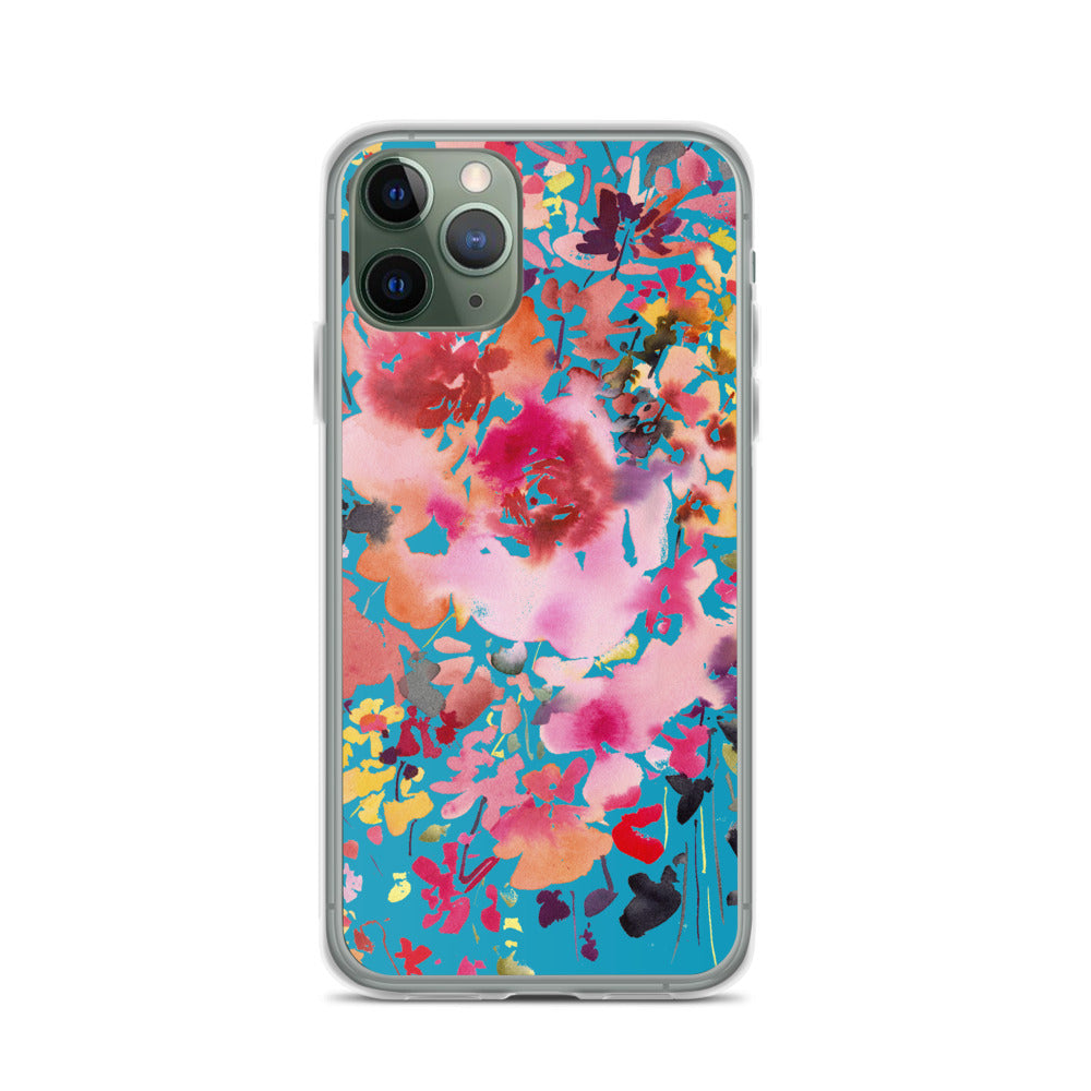 Blue and Fuchsia Phone Case | CreativeIngrid - CreativeIngrid | Ingrid Sanchez