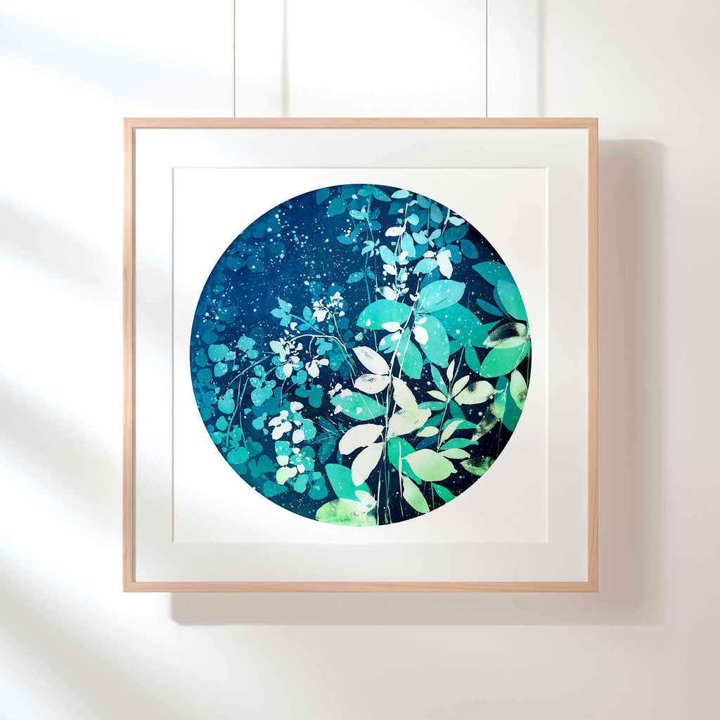 Moonlight Blooms, Art Print | CreativeIngrid - CreativeIngrid | Ingrid Sanchez