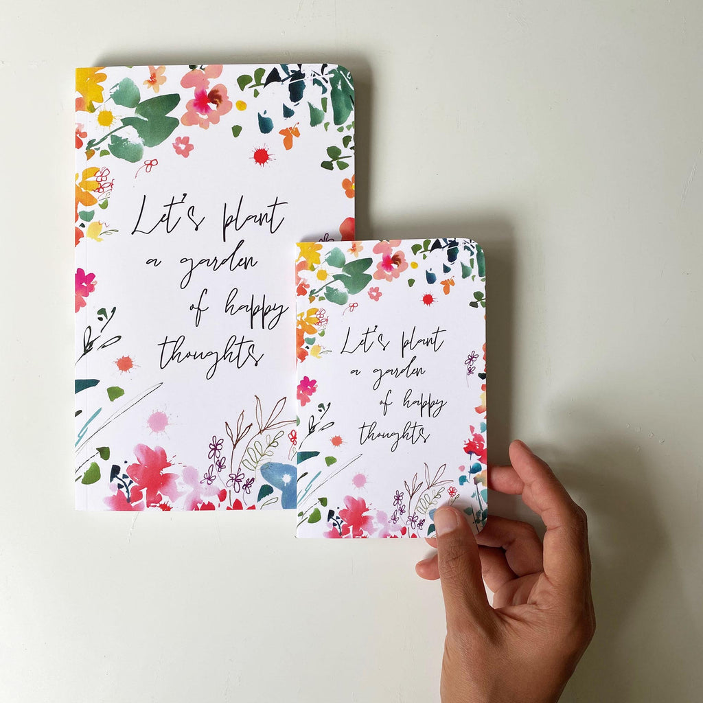 Happy thoughts, Large Softcover Notebook | CreativeIngrid - CreativeIngrid | Ingrid Sanchez