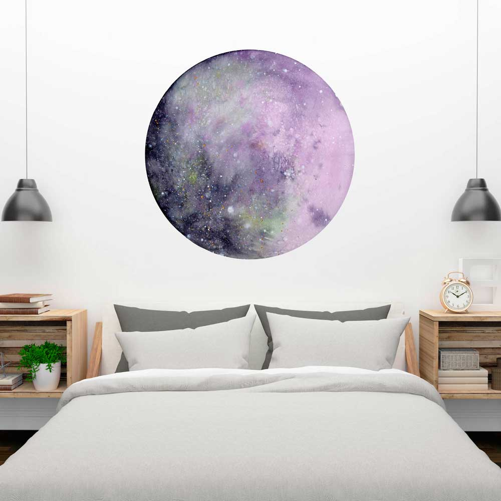 Silver Pink Moon Wall Sticker | CreativeIngrid - CreativeIngrid | Ingrid Sanchez