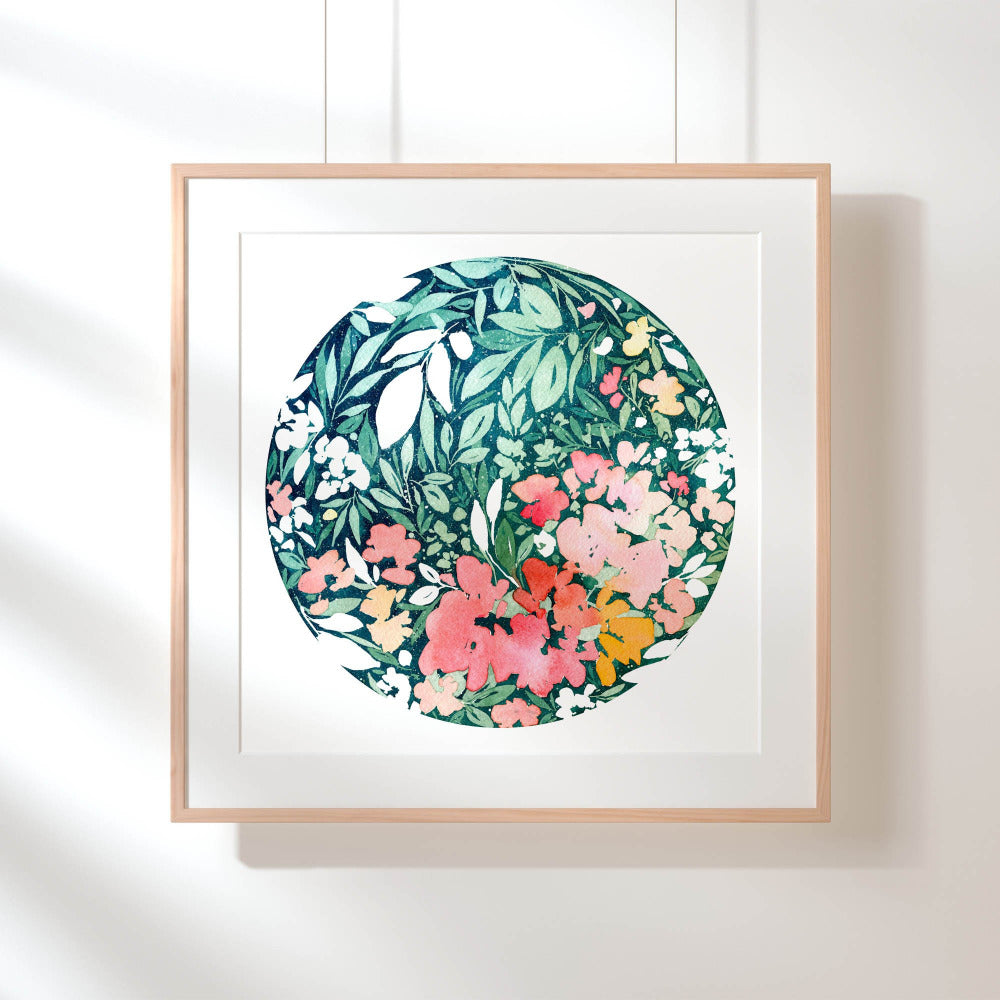 Snowy Bloom - Art Print - CreativeIngrid | Ingrid Sanchez