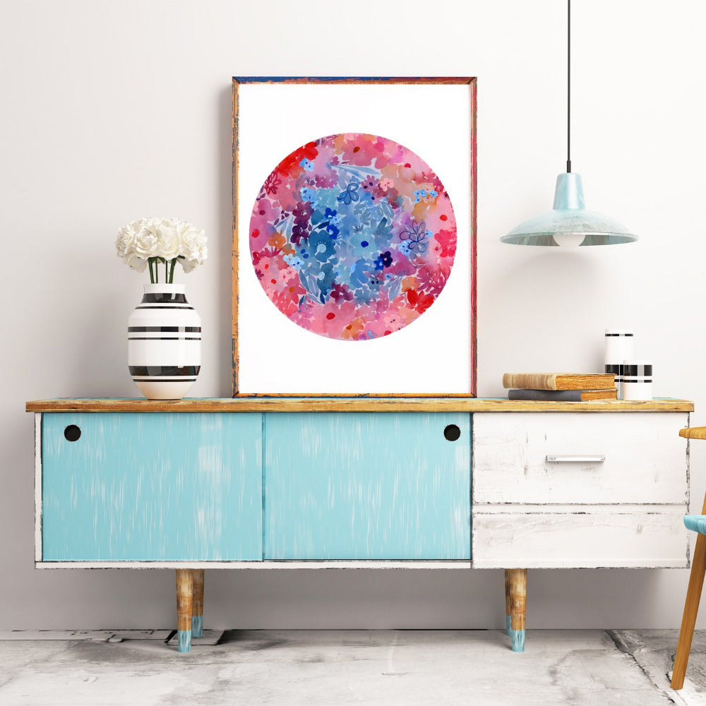 Super Flower Moon, Art Print | CreativeIngrid - CreativeIngrid | Ingrid Sanchez