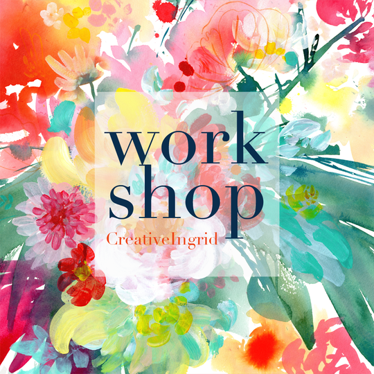 Floral Abstract Watercolor Workshop London | June 19th 2021