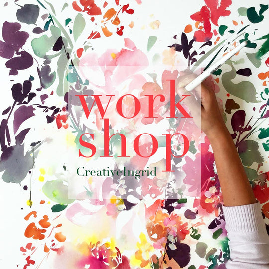Floral Abstract Watercolor Workshop London | July 24