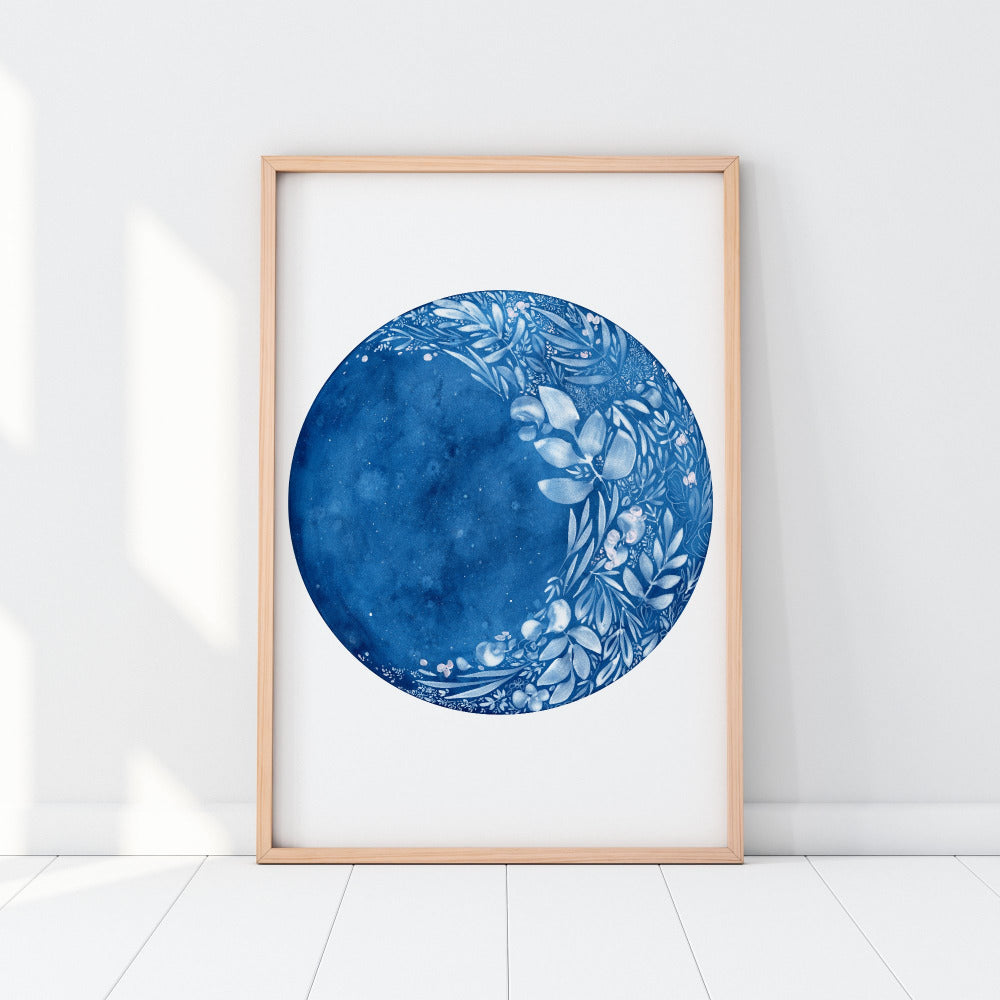 Waxing Flower Moon, Art Print | CreativeIngrid - CreativeIngrid | Ingrid Sanchez