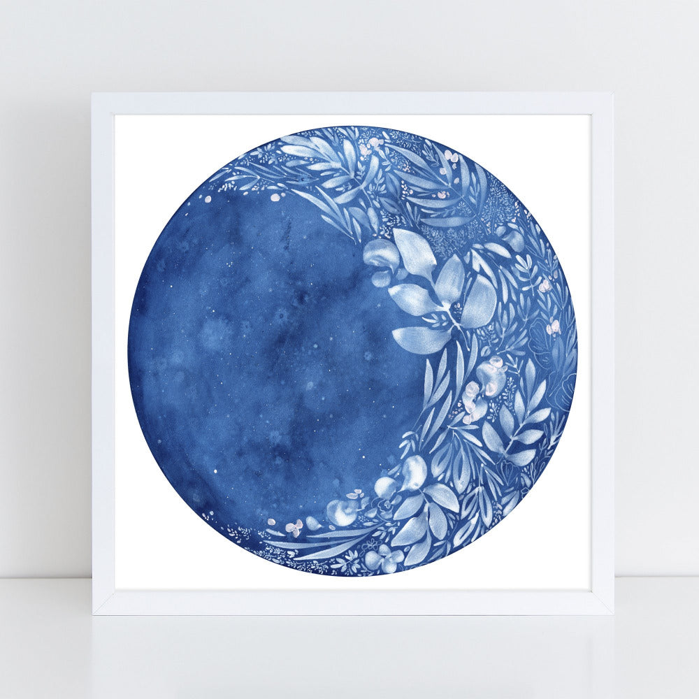 Waxing Flower Moon - Art Print - CreativeIngrid | Ingrid Sanchez