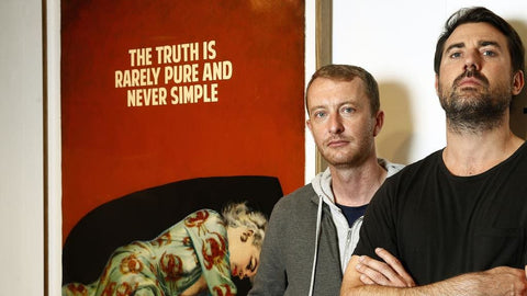 Mike Snelle (left) and James Golding , known as artist duo The Connor Brothers