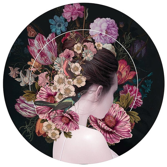 Alexandra Gallagher print of figure & flowers