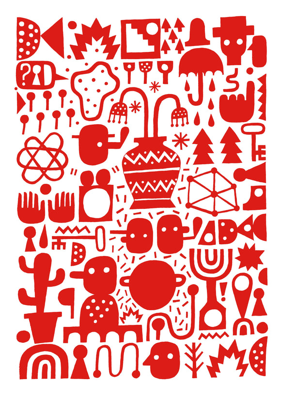 David Shillinglaw Urban Street Art Red