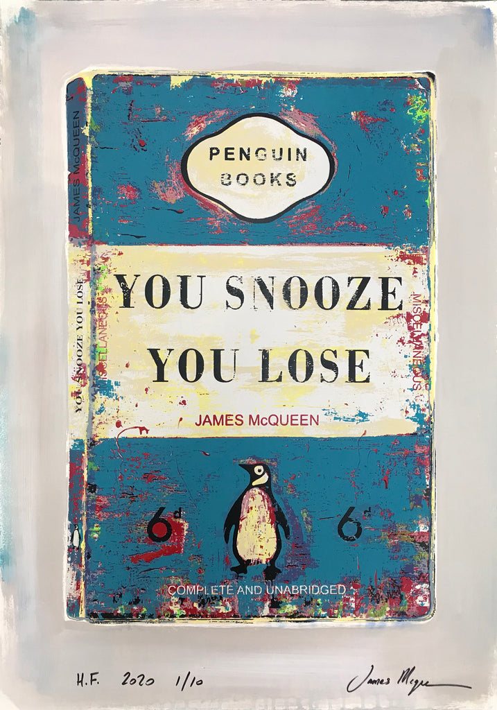 James McQueen | You Snooze You Lose - Blue