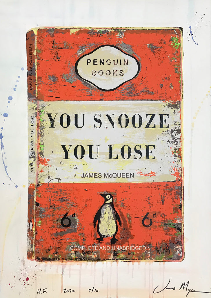 James McQueen | You Snooze You Lose - Orange