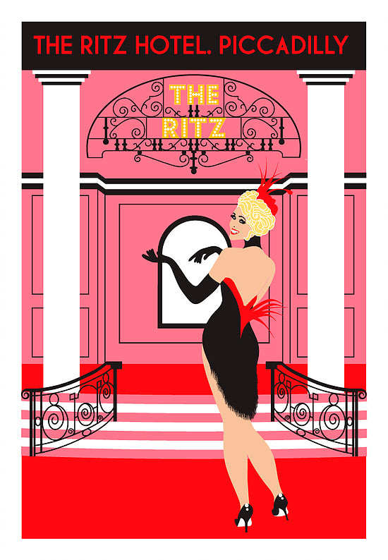 Putting On The Ritz | Kitty Finegan Art | Limited Edition Print