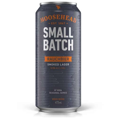 Moosehead Small Batch Rauchbier Smoked Lager 473 ml Dose. Original kanadisches Bier