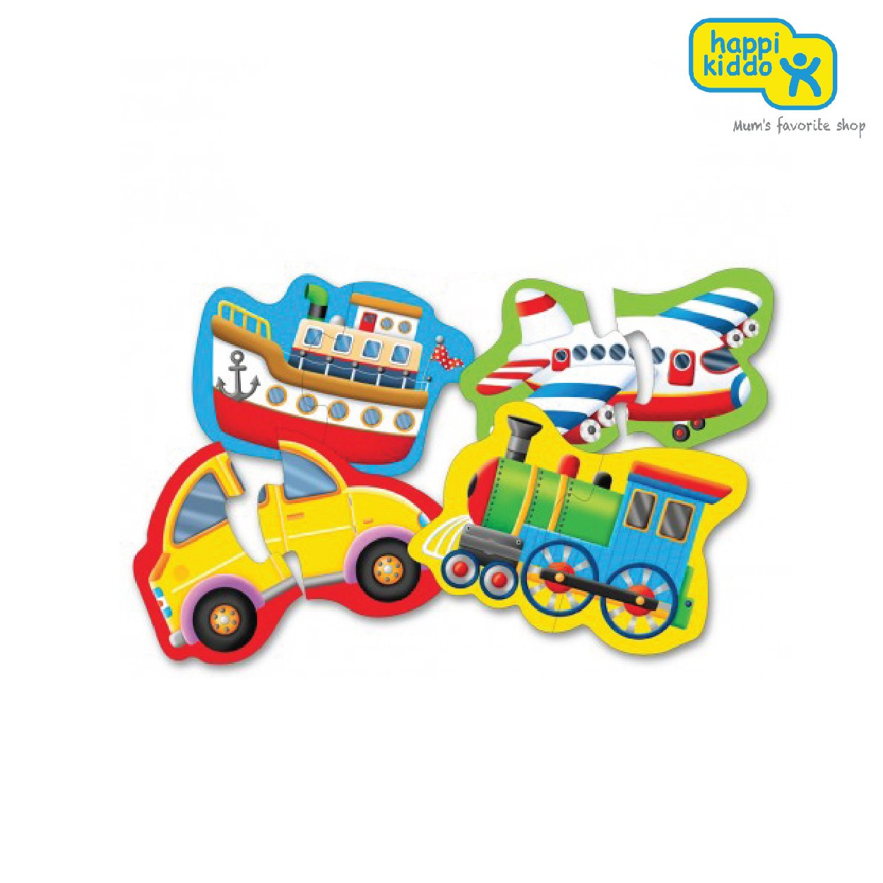 The Learning Journey International My First Shaped Puzzle-Things That Go/ My Toys