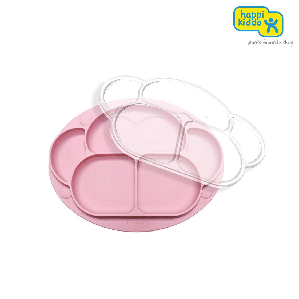Ange Silicone Monkey Food Tray With Cover