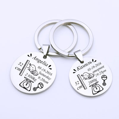 Personalized Newborn Baby Keychain by SIA