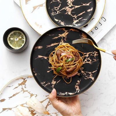 Marble Dinner Plates by SIA (Set of 3)