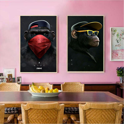 Three WISE Monkeys Canvas by SIA