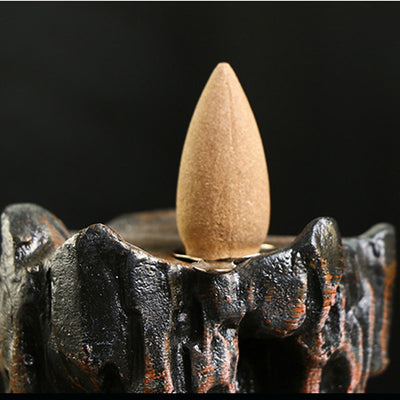 Handcrafted Resin Mountain Incense Burner