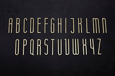 Golden Brass Letters Decoration by SIA