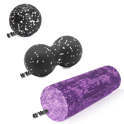 Fitness Bundle - Roller, Peanut Ball and Massage Ball