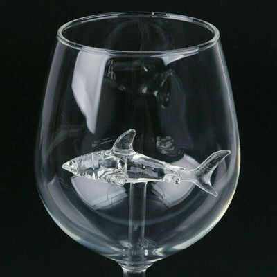 Sea Inspired Crystal Wine Glasses by SIA