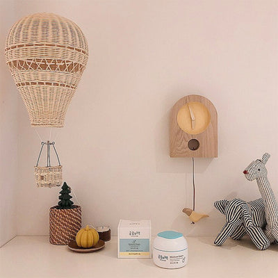 Nordic Rattan Weave Hot Air Balloon