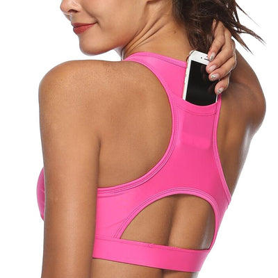 Woman's Sports Bra with Phone Holder