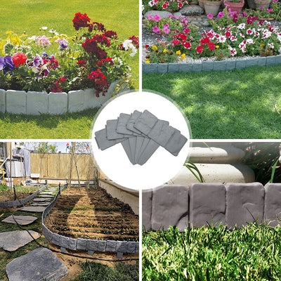 Cobblestone Flexible Lawn & Landscape Border Edging (10-Pack)