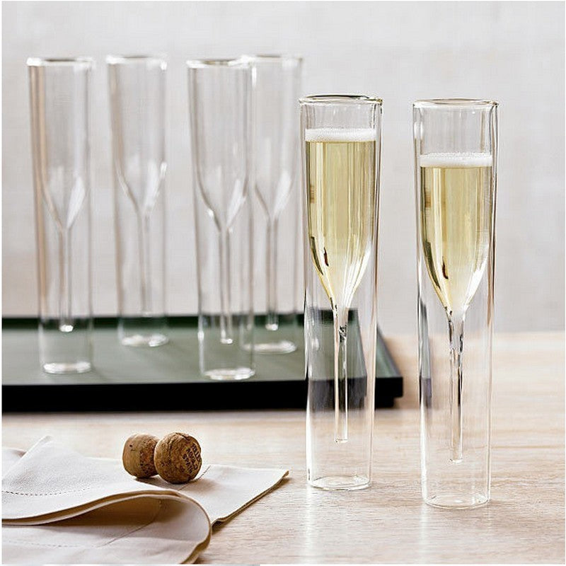 Tulip Champagne Glasses by SIA