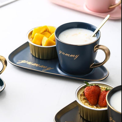 Aubury Ceramic Cup & Saucer Set by SIA
