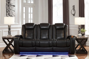 Party Time Power Reclining Sofa with Adjustable Headrest