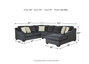 Eltman 3 Piece Sectional W/ Chaise