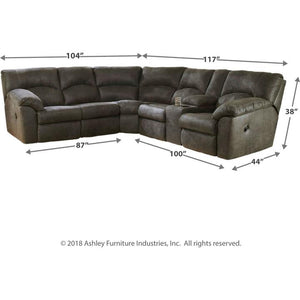 Tambo 2 Piece Reclining Sectional