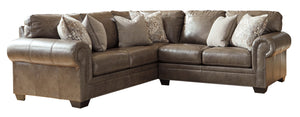 Roleson Leather 2 Piece Sectional