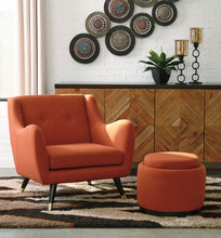 Load image into Gallery viewer, Menga Chair and Storage Ottoman -CLEARANCE