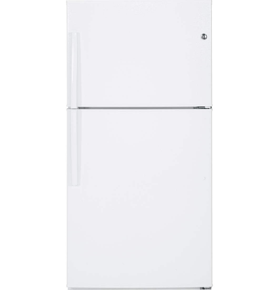 GE 21.2 cu.ft. Top Freezer Refrigerator White