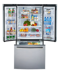 GE Profile 20.8 Cu. Ft. Energy Star French Door Refrigerator with Factory Installed Icemaker Slate