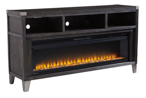 Todoe LG TV Stand With Fireplace