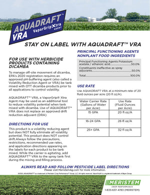 Aquadraft™ VRA Water Conditioning Agent For Use with Dicamba