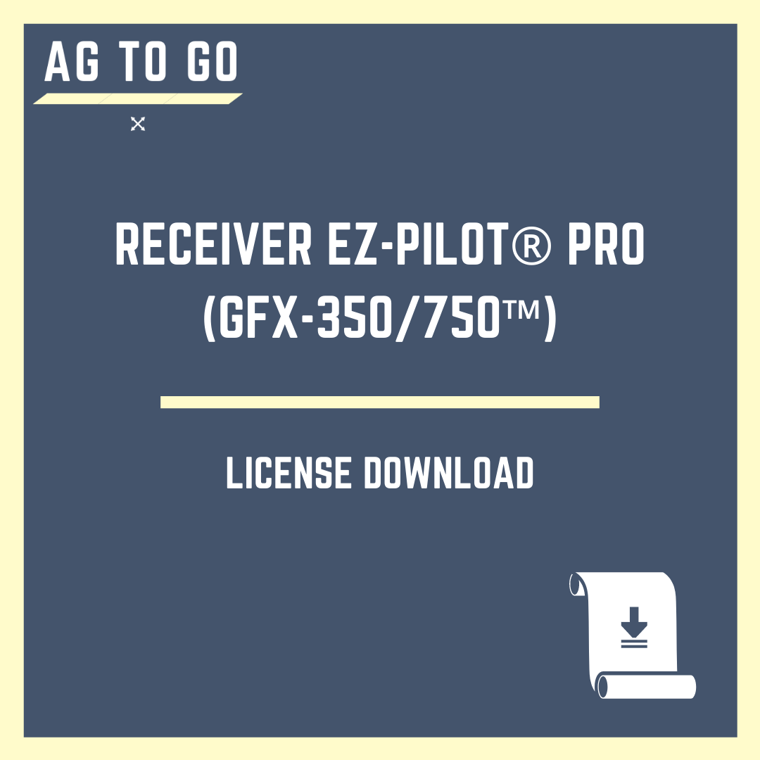 License, Receiver EZ-Pilot® Pro [GFX-350/750™]